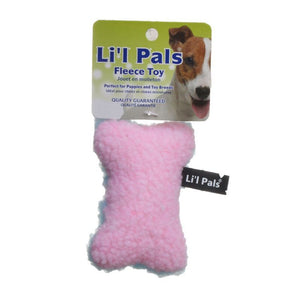 Li'l Pals Fleece Bone Toy for Dogs & Puppies