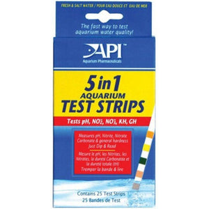 API 5 in 1 Aquarium Test Strips