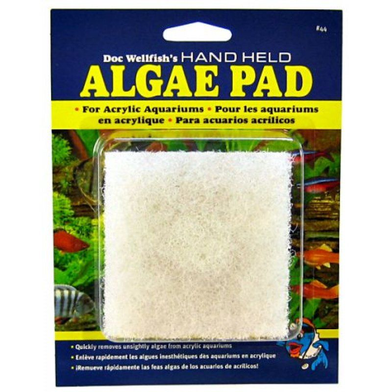 API Doc Wellfish's Hand Held Algae Pad for Acrylic Aquariums