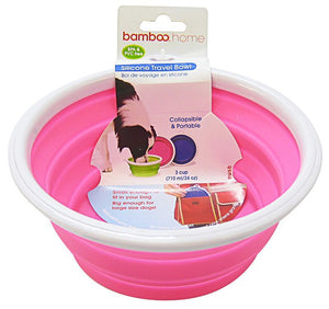 Bamboo Silicone Travel Bowl - Assorted