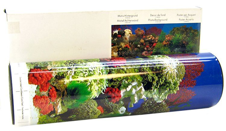 Blue Ribbon Freshwater Garden & Carribean Coral Reef Double Sided Aquarium Background