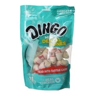 Dingo Dental Bone Chicken & Rawhide Dental Chew