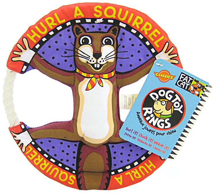Fat Cat Dog Toy Rings - Assorted