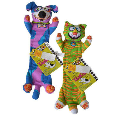 Fat Cat Incredible Strapping Flip Flop Yankers Dog Toy - Assorted