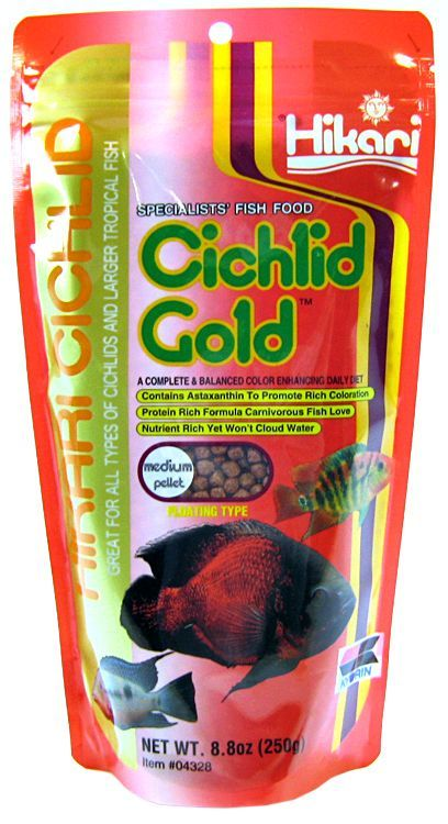 Hikari Cichlid Gold Color Enhancing Fish Food - Medium Pellet