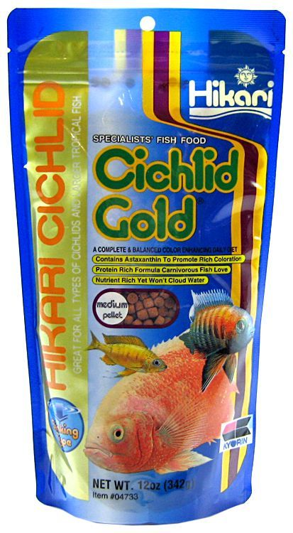 Hikari Cichlid Gold Color Enhancing Sinking Fish Food - Medium Pellet