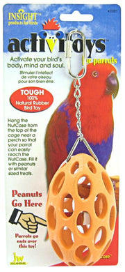 JW Insight Nutcase Rubber Parrot Toy
