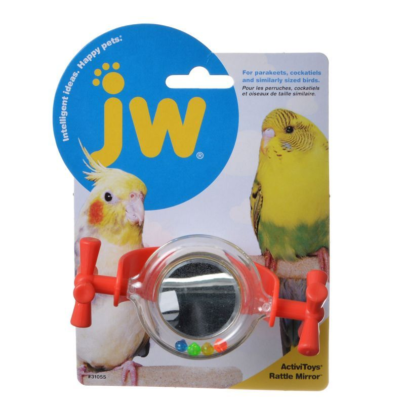 JW Insight Rattle Mirror Bird Toy