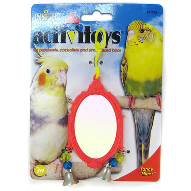 JW Insight Fancy Mirror Bird Toy - Assorted