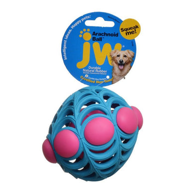 JW Pet Arachnoid Ball Squeaker Dog Toy