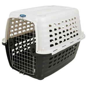 Petmate Compass Kennel - Black & Metalic White