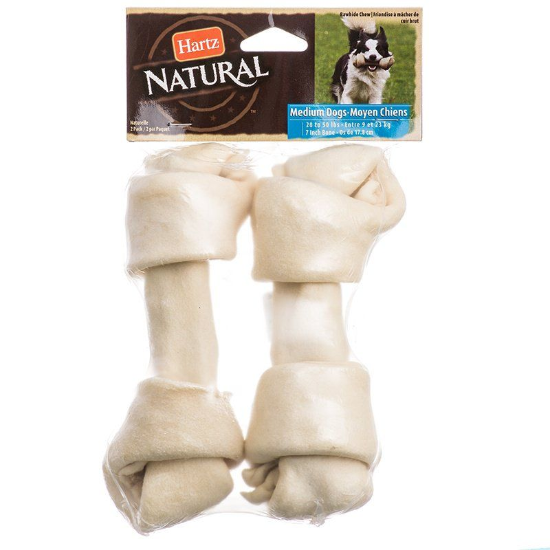 Hartz Natural Rawhide Bone - White
