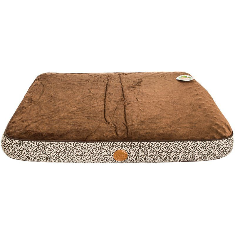 K & H Superior Orthopedic Bed - Mocha with Paw & Bone Print