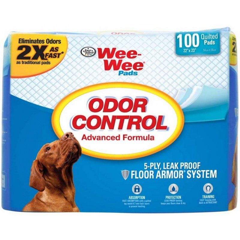 Four Paws Wee Wee Pads - Odor Control