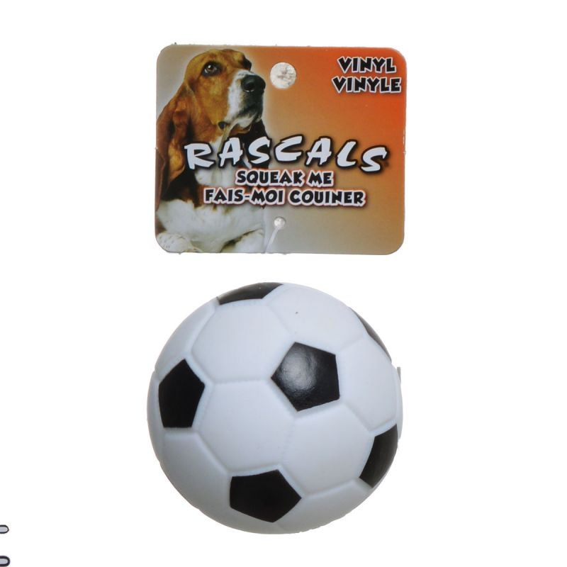 Rascals Vinyl Soccer Ball for Dogs - White