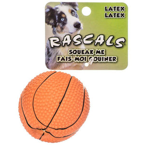 Rascals Latex Basketball Dog Toy