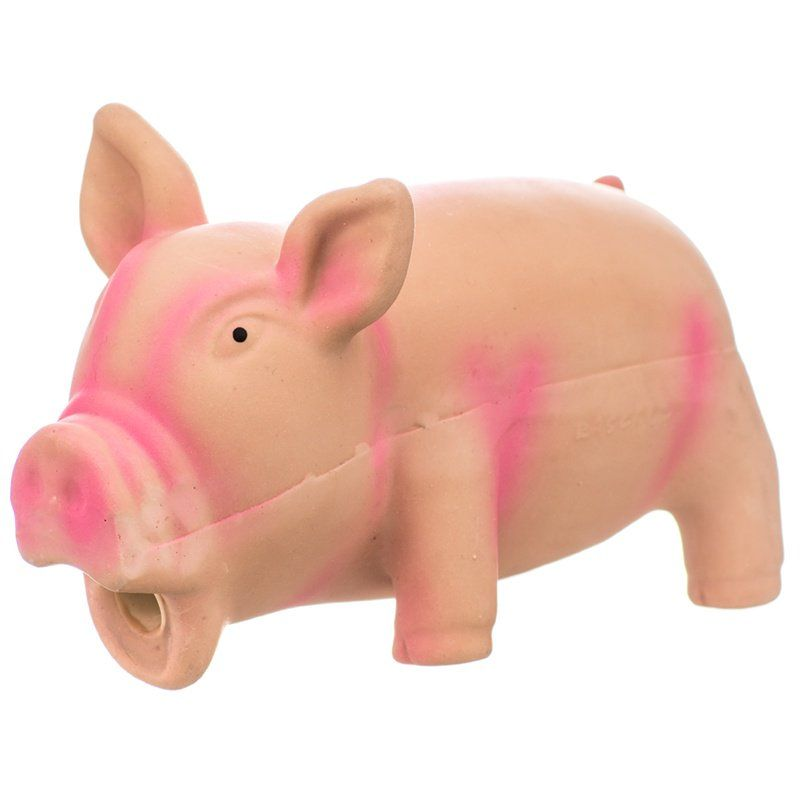 Rascals Latex Grunting Pig Dog Toy - Pink