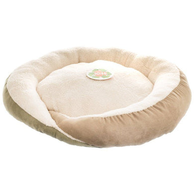 K&H Huggy Nest Cat Booster Bed - Green/Tan