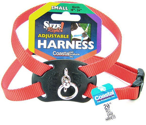 Coastal Pet Size Right Nylon Adjustable Harness - Red