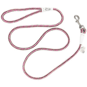 K9 Explorer Reflective Braided Rope Snap Leash - Rosebud