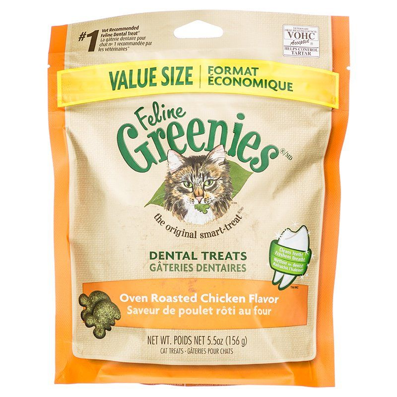 Greenies Feline Dental Treats - Oven Roasted Chicken Flavor