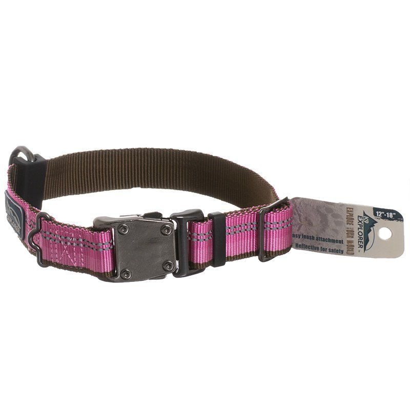 K9 Explorer Reflective Adjustable Dog Collar - Rosebud