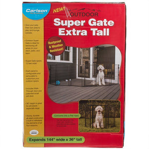 Carlson Super Gate with Pet Door - Extra Tall