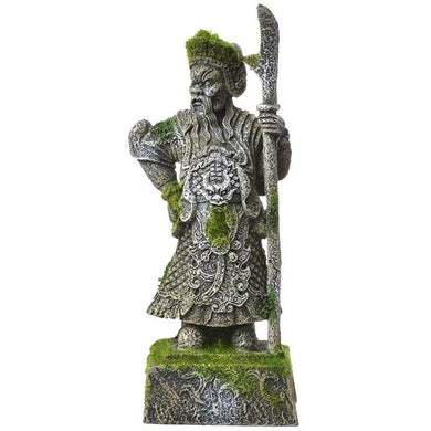 Exotic Environments Thai Warrior Statue with Moss Aquarium Ornament