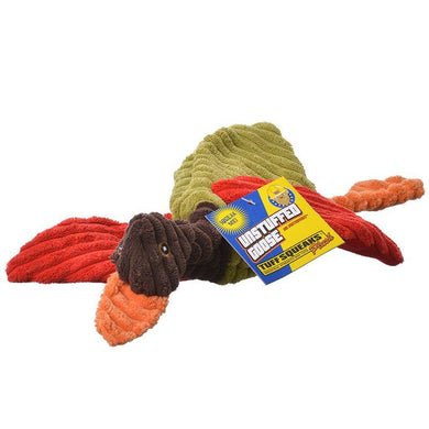 Petsport Tuff Squeak Unstuffed Goose Plush Dog Toy