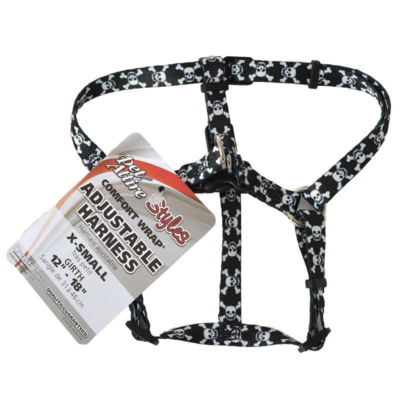 Pet Attire Styles Skulls Comfort Wrap Adjustable Dog Harness
