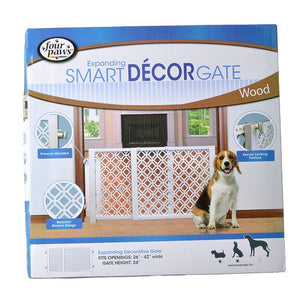 Four Paws Expanding Smart Decor Gate - Wood