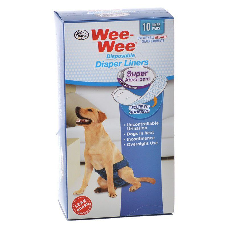 Four Paws Wee Wee Super Absorbent Disposable Diaper Liners