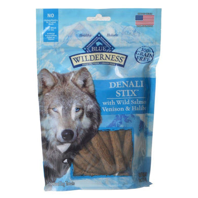 Blue Buffalo Wilderness Denali Stix Dog Treats - Wild Salmon, Venison & Halibut