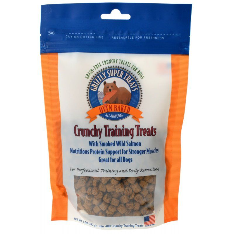 Grizzly Super Treats Oven-Baked Crunchy Training Treats with Smoked Salmon