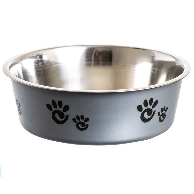 Spot Barcelona Stainless Steel Feeding Bowl for Dogs - Silver