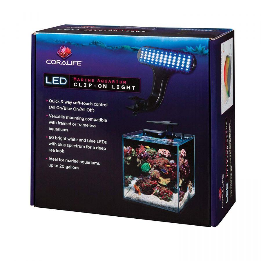Coralife LED Marine Aquarium Clip-On Light
