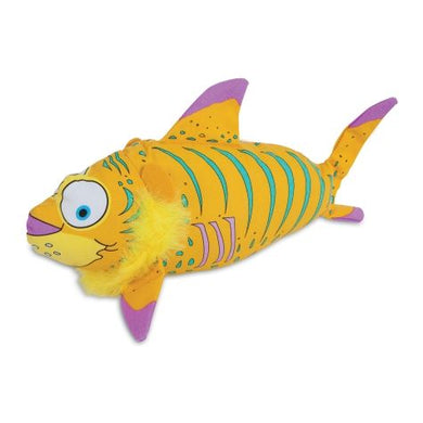 Fat Cat Finimals Tigerfish Dog Toy