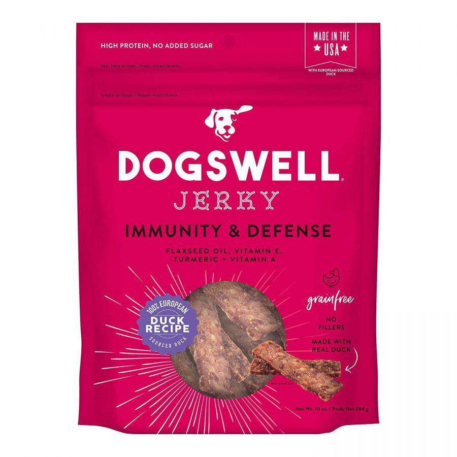 Dogswell Jerky Immunity & Defense Dog Treats - Duck