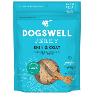Dogswell Jerky Skin & Coat Dog Treats - Lamb
