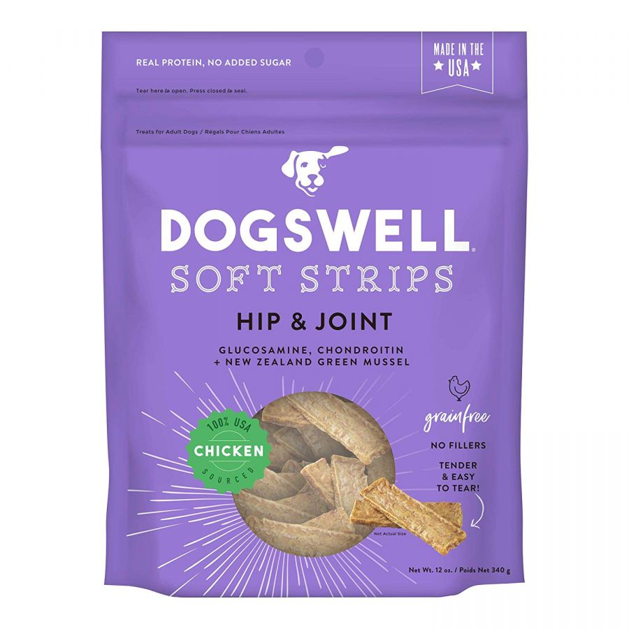 Dogswell Soft Strips Hip & Joint Dog Treats - Chicken