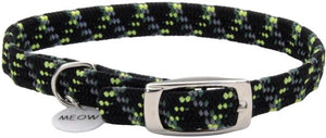 Coastal Pet Elastacat Reflective Safety Collar with Charm Black/Green