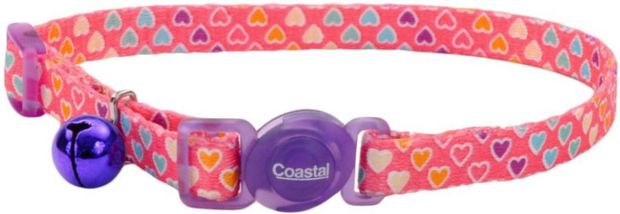 Coastal Pet Safe Cat Breakaway Collar Multi Heart