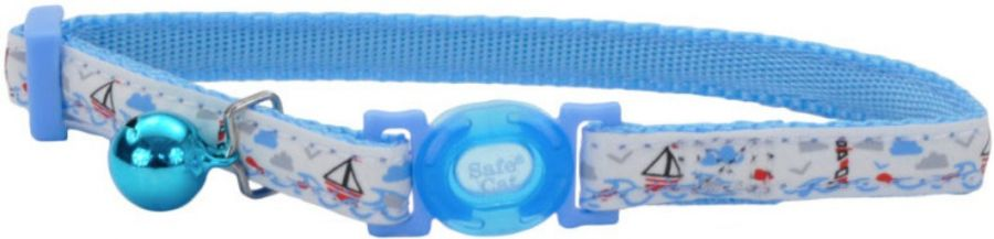 Coastal Pet Safe Cat Glow in the Dark Adjustable Collar Boat
