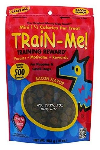 Crazy Dog Train Me! Bacon Training Reward Treats - Mini