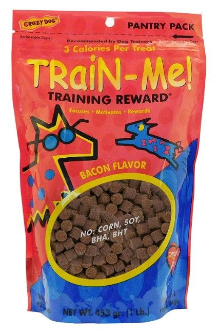 Crazy Dog Train Me! Bacon Training Reward Treats - Regular