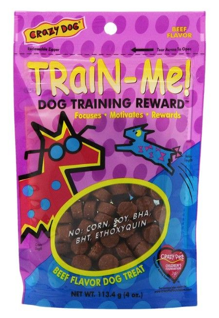 Crazy Dog Train Me! Beef Training Reward Treats - Regular