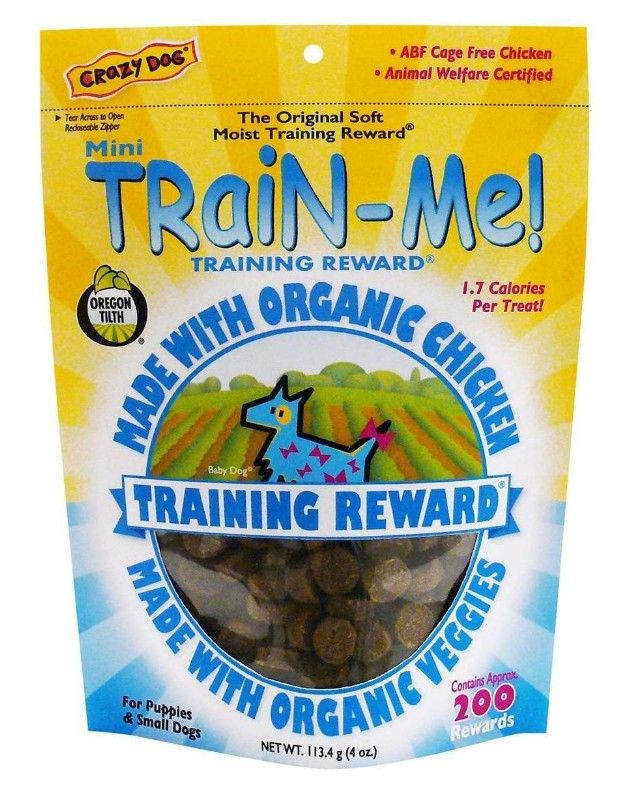 Crazy Dog Train Me! Organic Chicken Training Reward Treats - Mini