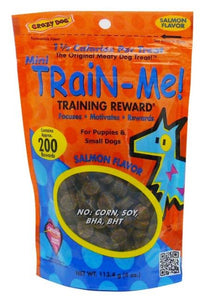 Crazy Dog Train Me! Salmon Training Reward Treats - Mini