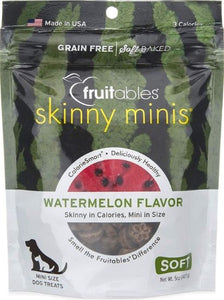 Fruitables Skinny Minis Watermelon Flavor Soft Baked Dog Treats