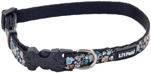 Li'L Pals Reflective Collar - Teal and Orange Paws